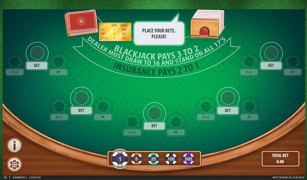 777 Casino Automated Blackjack