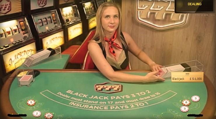 777 Casino Live Blackjack