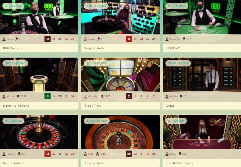 777 Casino Live Casino Games