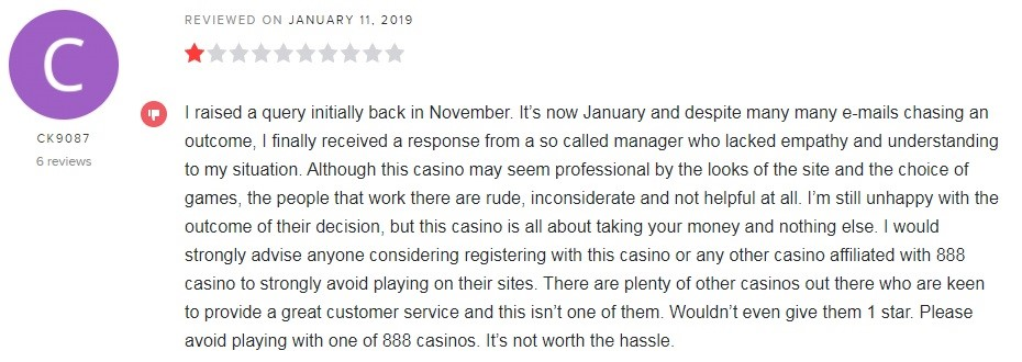777 Casino Player Review 2