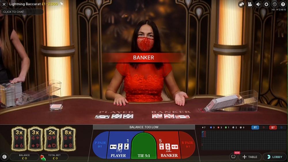 888 Casino Live Baccarat 2