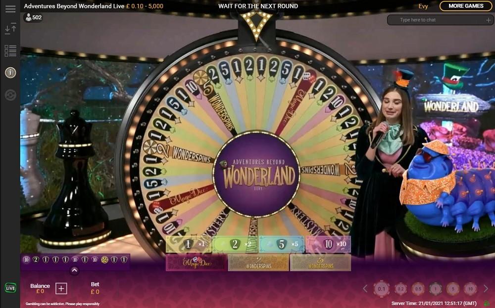 888 Casino Live Game Show