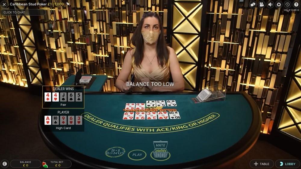 888 Casino Live Poker 2