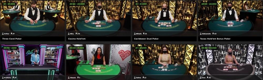 888 Casino Live Poker
