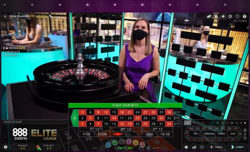 888 Casino Live Roulette 2