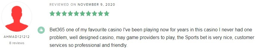 Bet365 Casino Player Review 3
