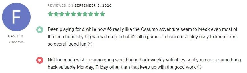 Casumo Casino Player Review 4
