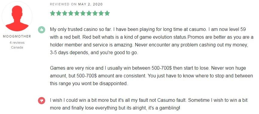 Casumo Casino Player Review 5