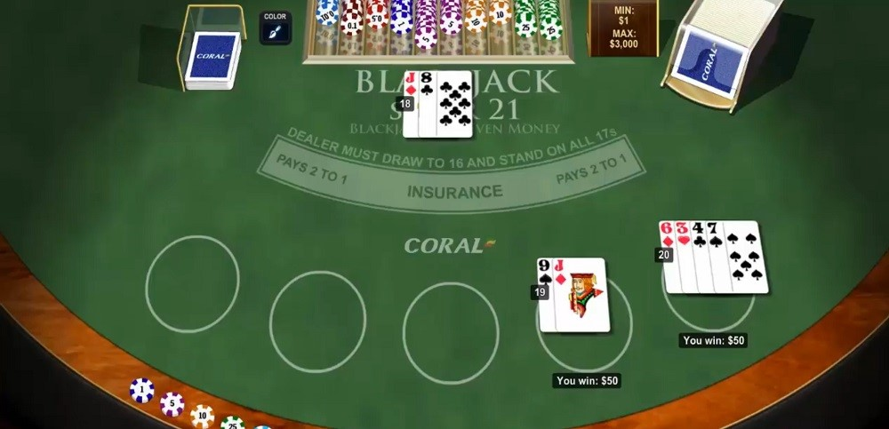 Coral Casino Automated Blackjack