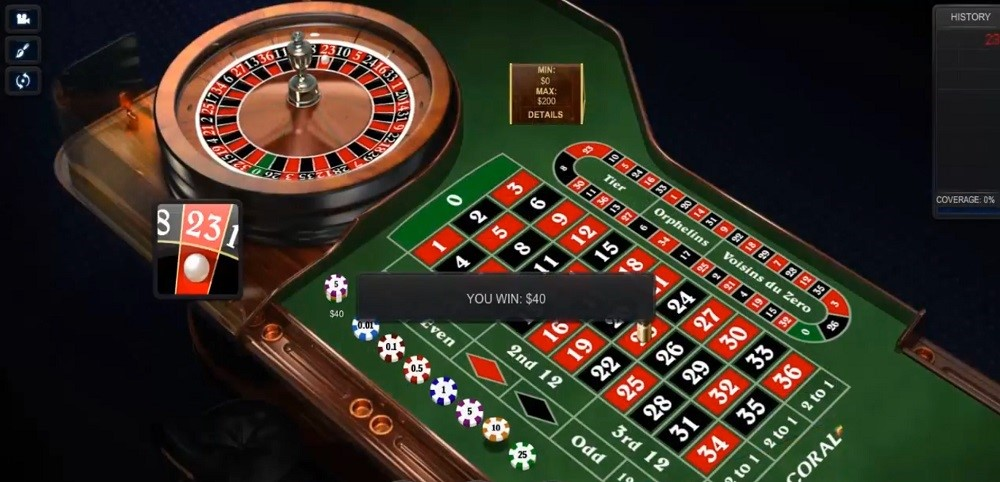 Coral Casino Automated Roulette