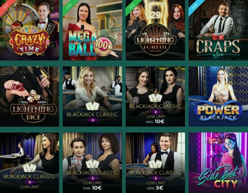 Cresus Online Casino Live Casino