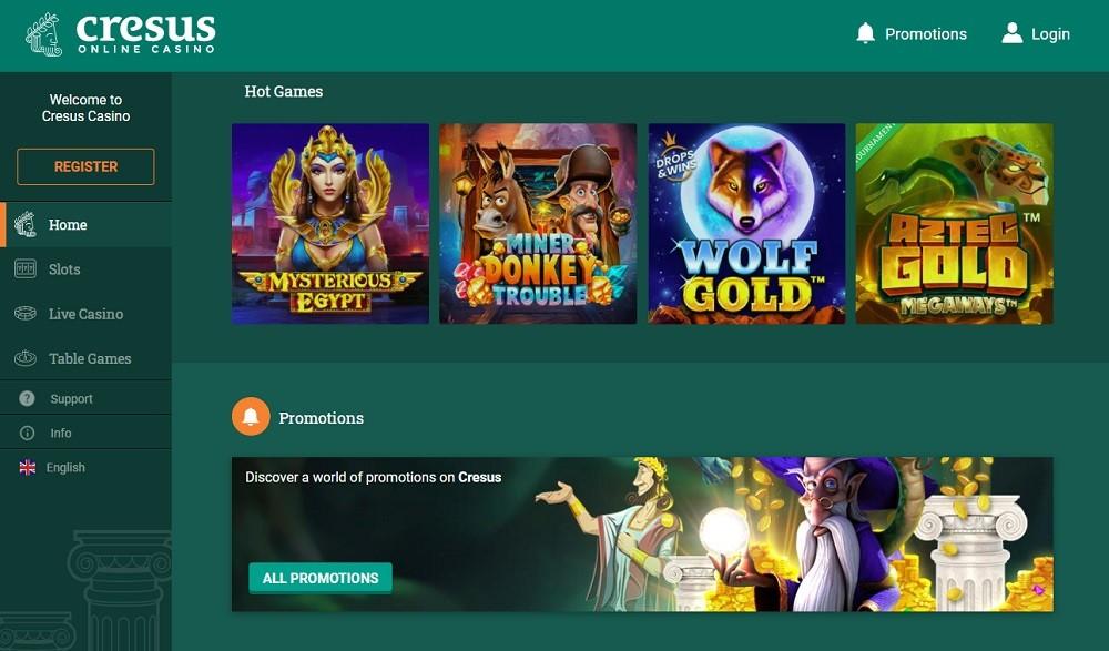 Cresus Online Casino Members Area