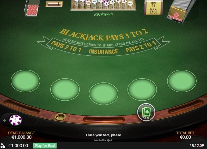 Europa Casino Automated Blackjack