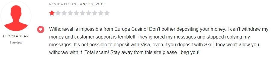 Europa Casino Player Review 2