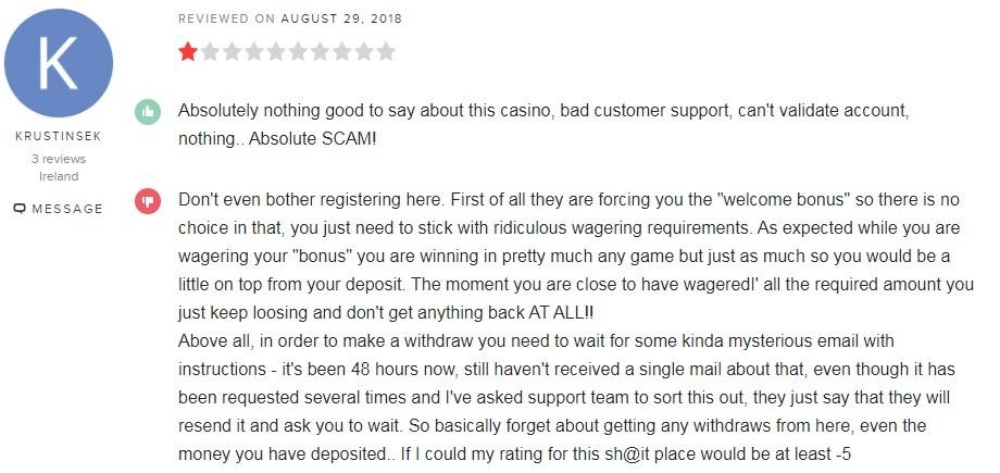 Europa Casino Player Review 4