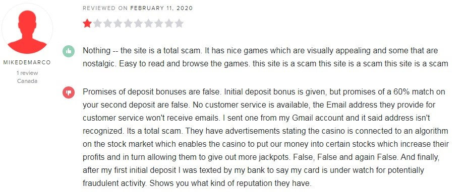 Europa Casino Player Review