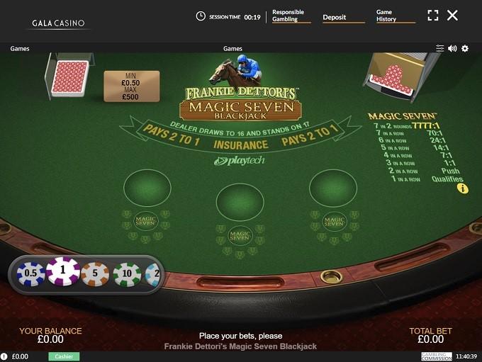 Gala Casino Automated Blackjack