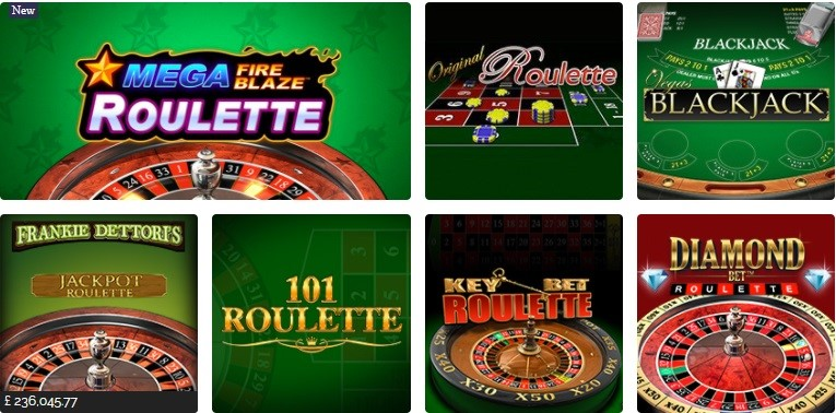 Gala Casino Automated Casino Table Games
