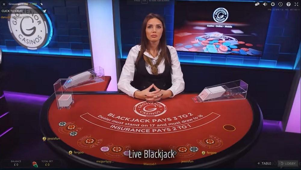 Grosvenor Casino Live Blackjack