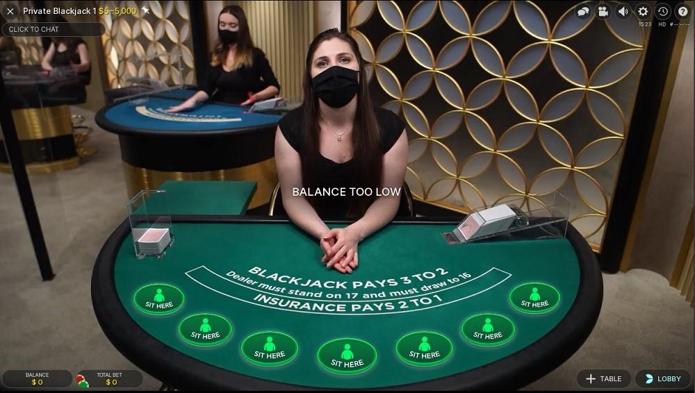 Jackpot City Casino Live Blackjack