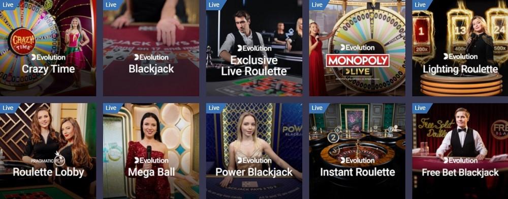 Maria Casino Live Casino Games