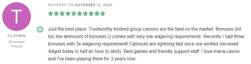 Maria Casino Player Review 4