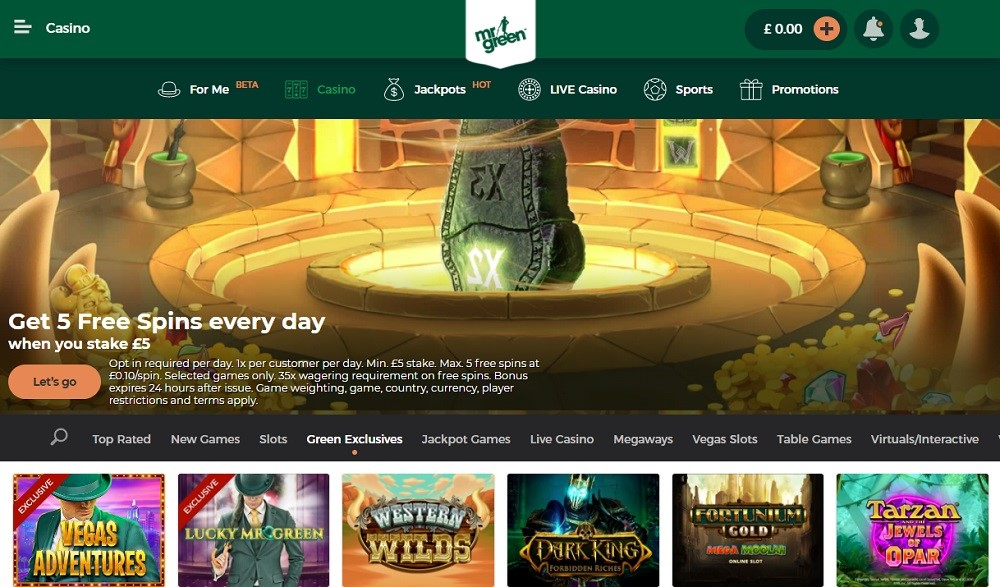 Mr Green Casino Members Area