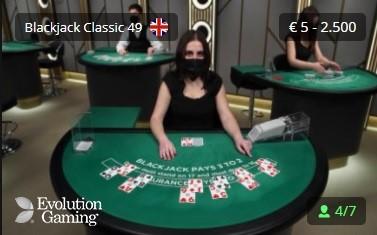 One Casino Live Blackjack