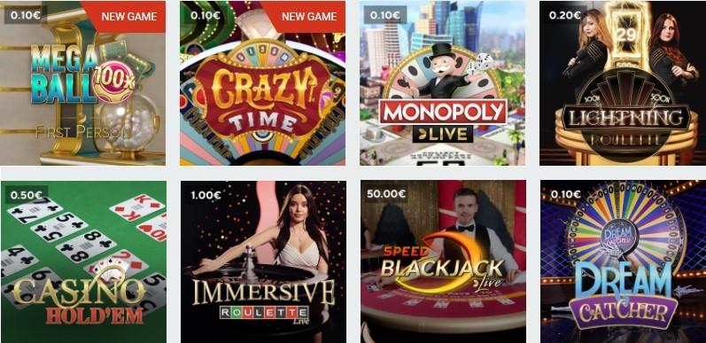 Optibet Casino Live Casino Games 2