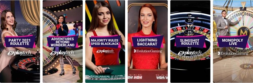 Party Casino Live Casino Games