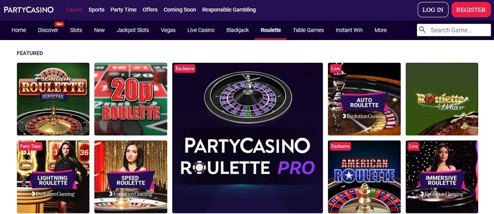 Party Casino Members Area