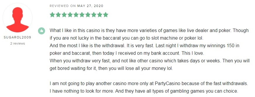 Party Casino Player Review 6