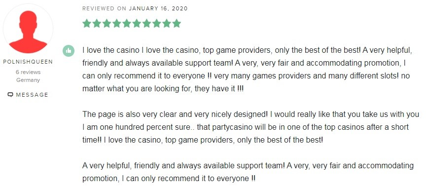 Party Casino Player Review 7