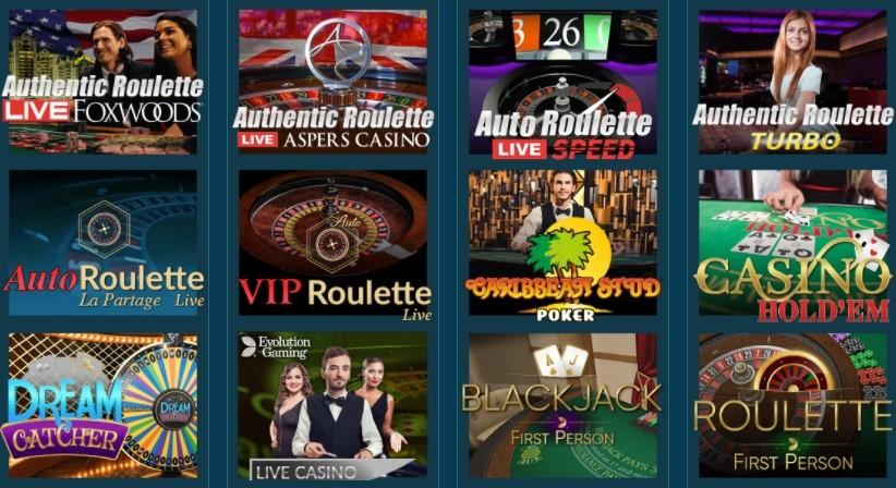 Platin Casino Live Casino Games