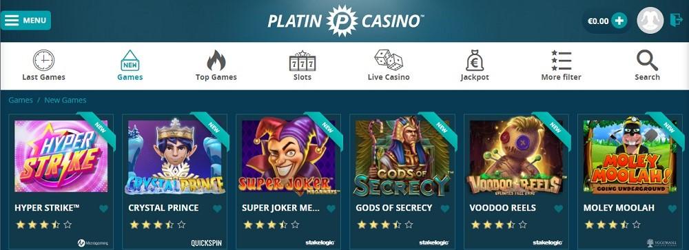 Platin Casino Members Area