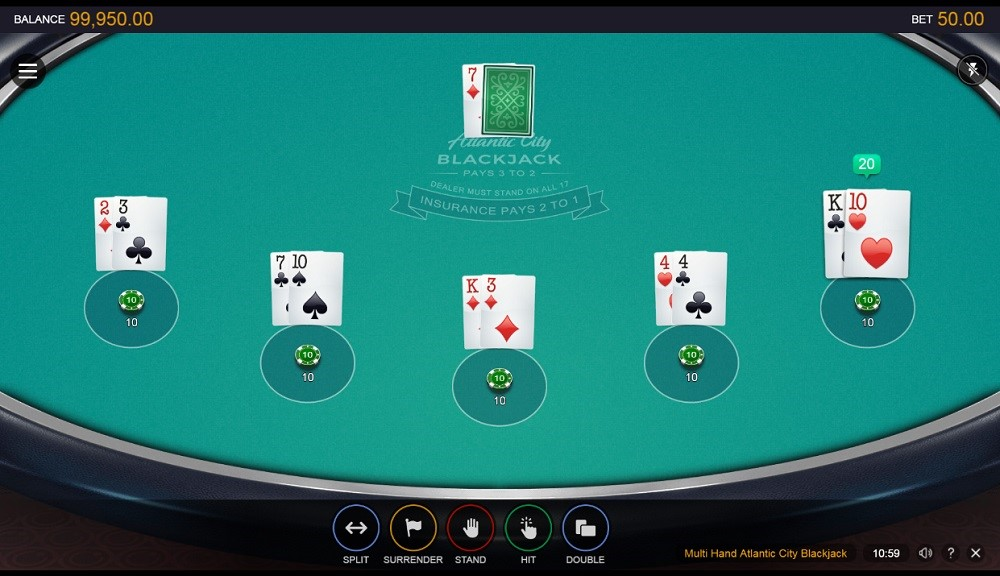 Spin Casino Automated Blackjack