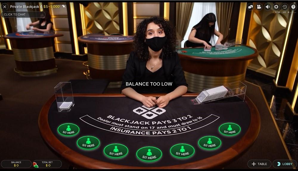 Spin Casino Live Blackjack
