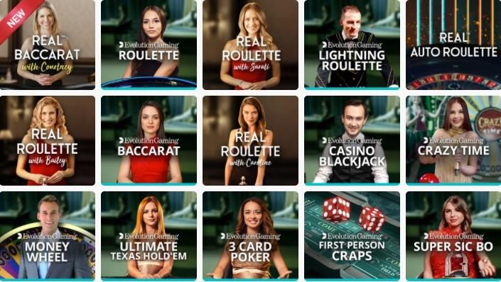 Spin Casino Live Casino Games