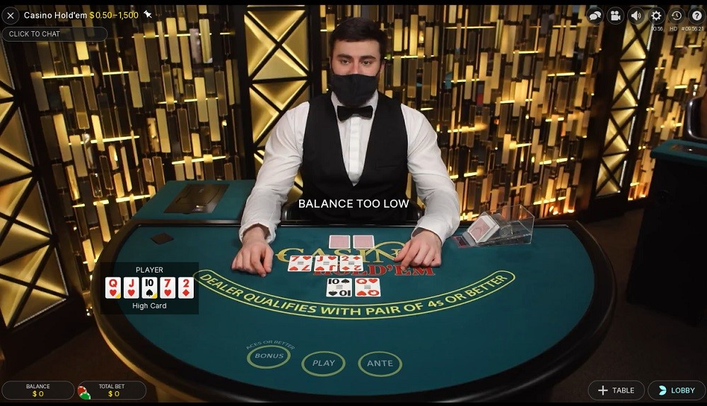 Spin Casino Live Poker