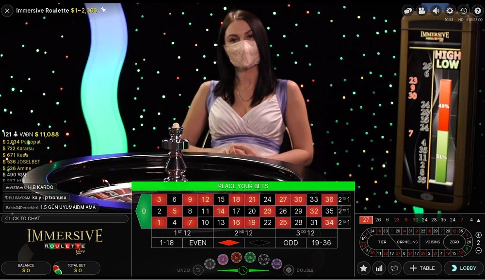 Spin Casino Live Roulette