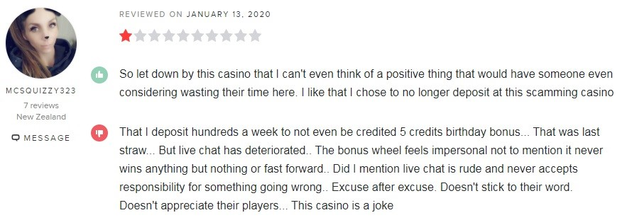 Spin Casino Player Review 2