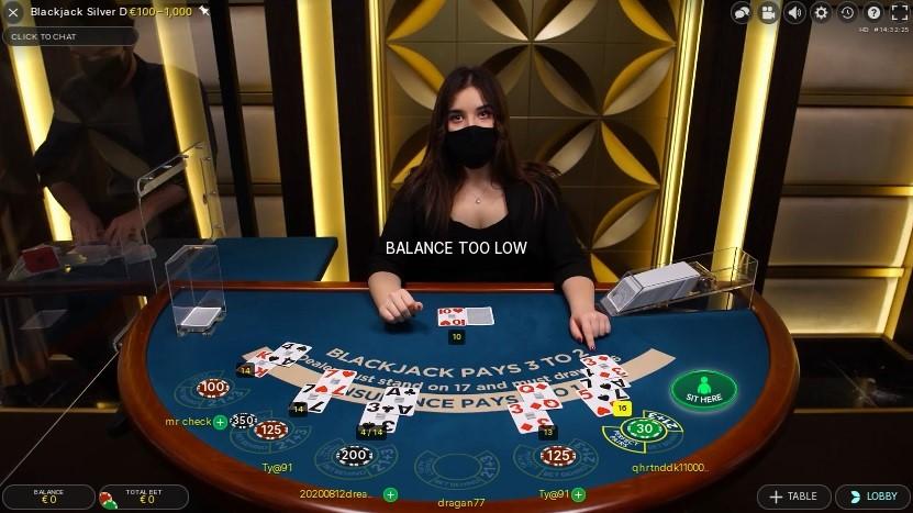 Unique Casino Live Blackjack