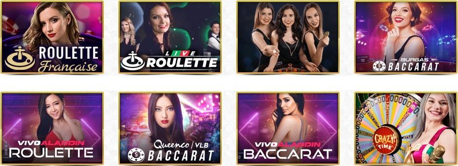 Unique Casino Live Casino Games