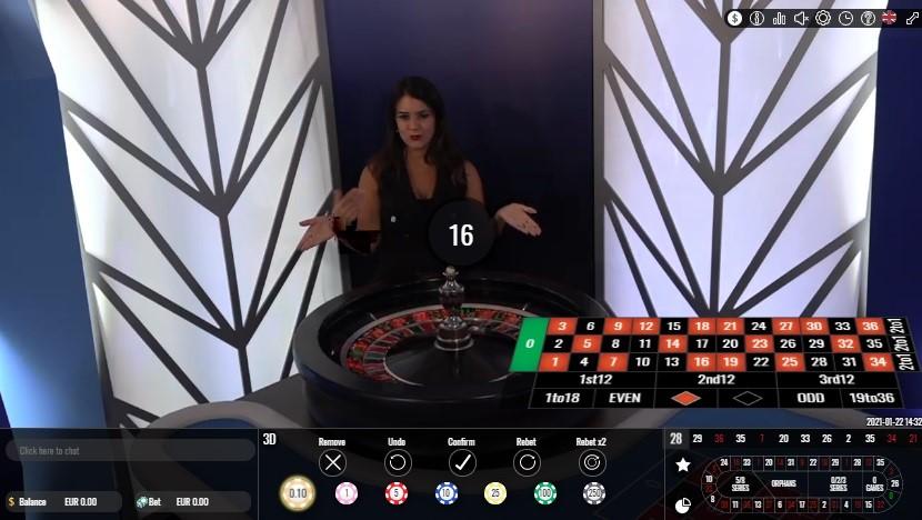 Unique Casino Live Roulette