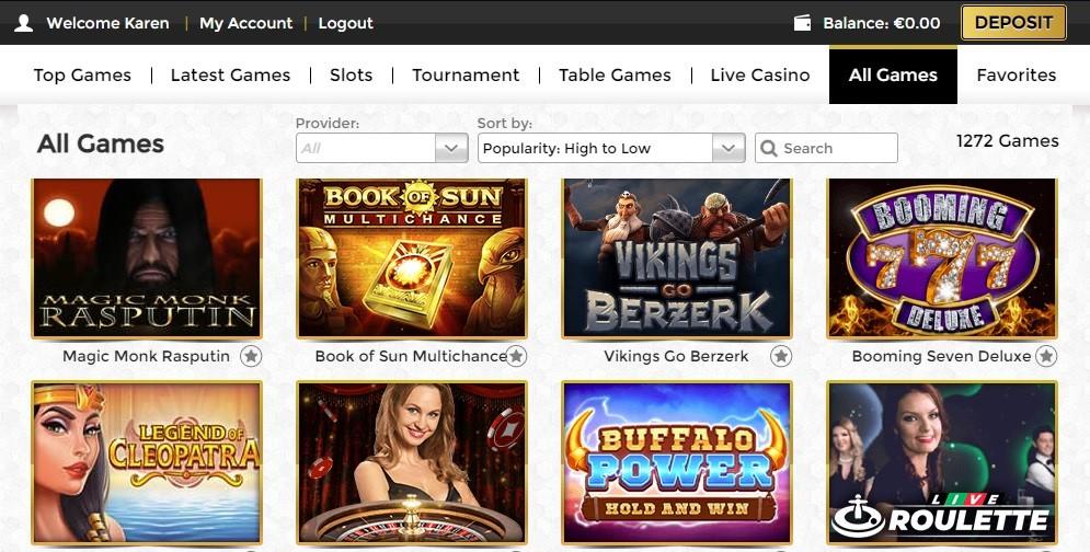 Unique Casino Members Area