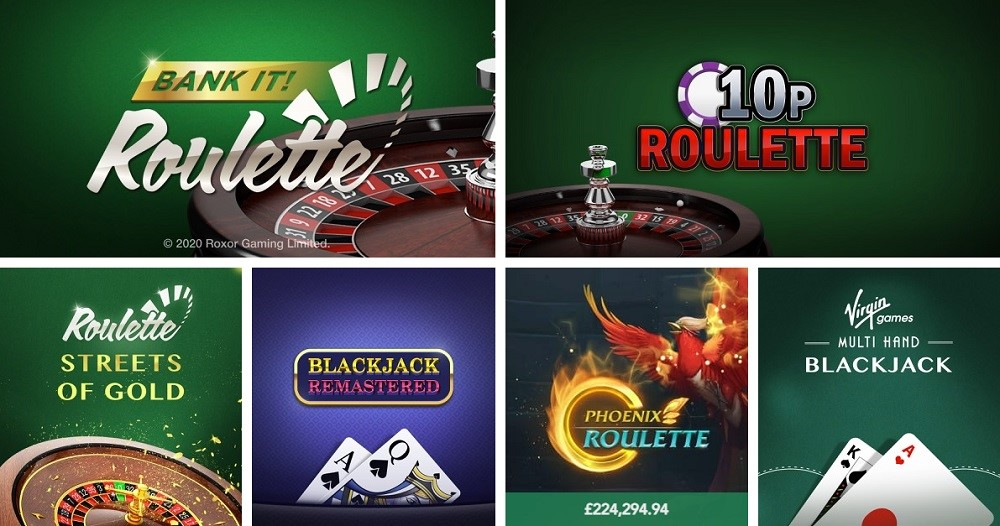 Virgin Games Casino Automated Casino Table Games