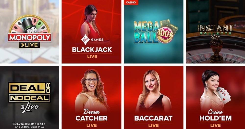 Virgin Games Casino Live Casino