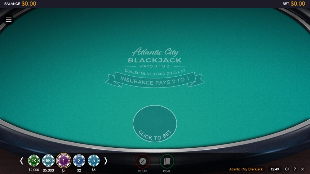 Zodiac Casino Automated Blackjack