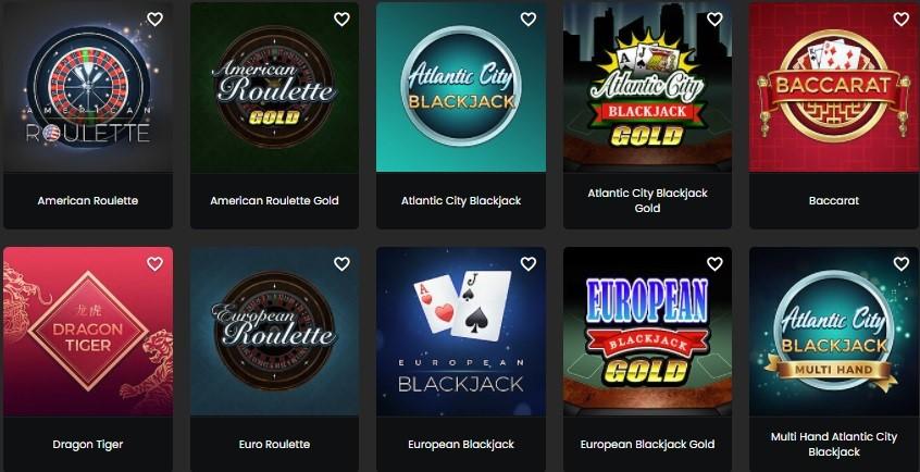 Zodiac Casino Automated Casino Table Games
