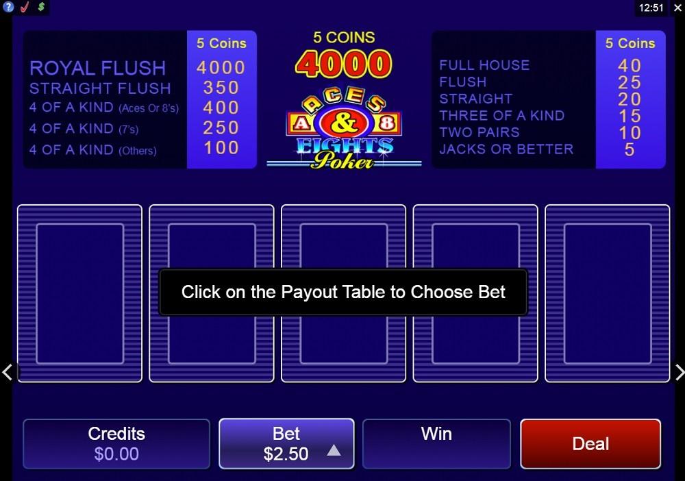 Zodiac Casino Automated Poker